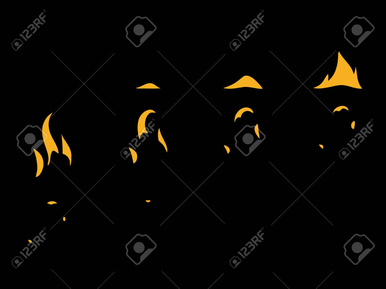 Sprite Sheets Flame Ready For Games Stock Photo Picture And
