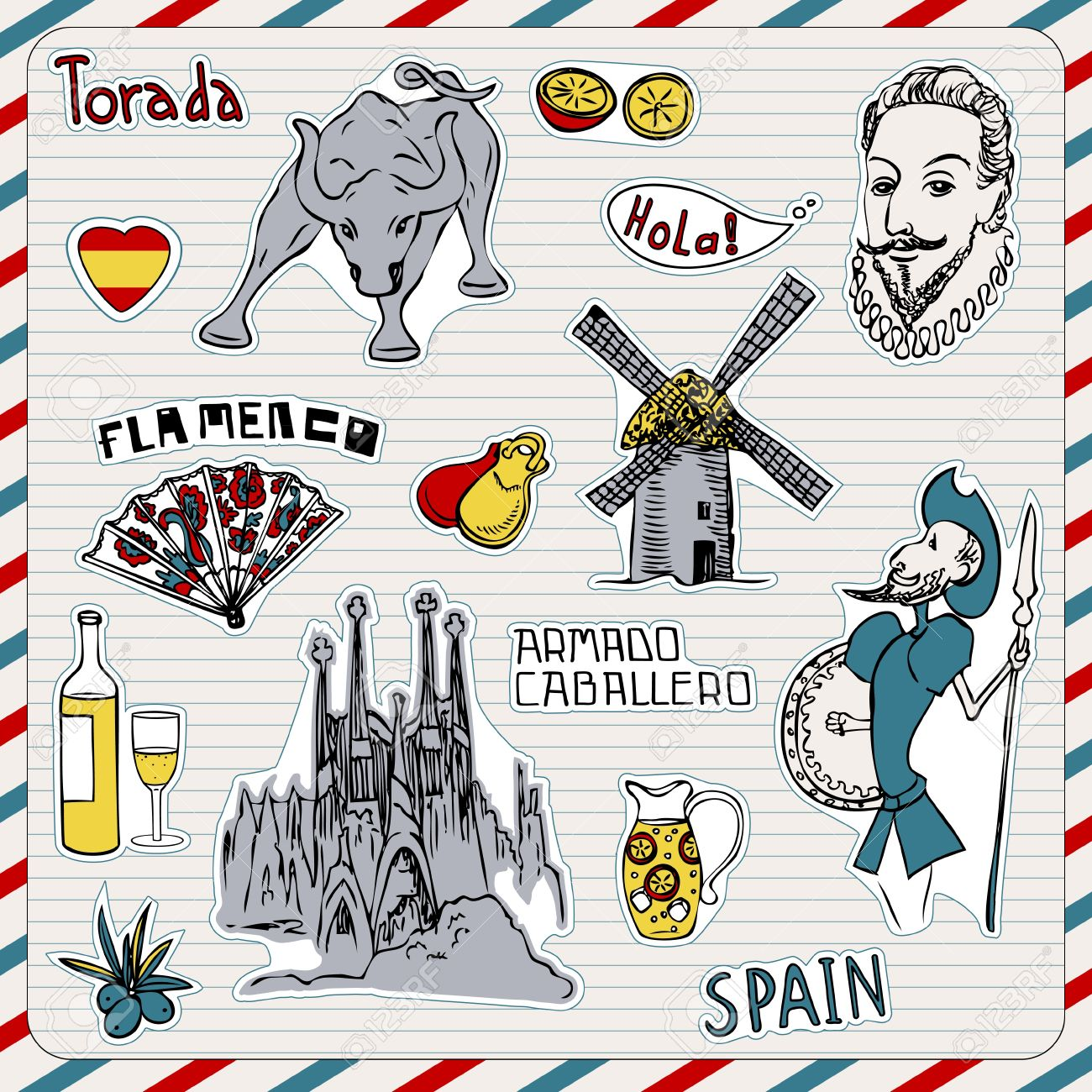 Travel spain doodles symbols of spain royalty free cliparts travel spain doodles symbols of spain stock vector 12490730 buycottarizona Images