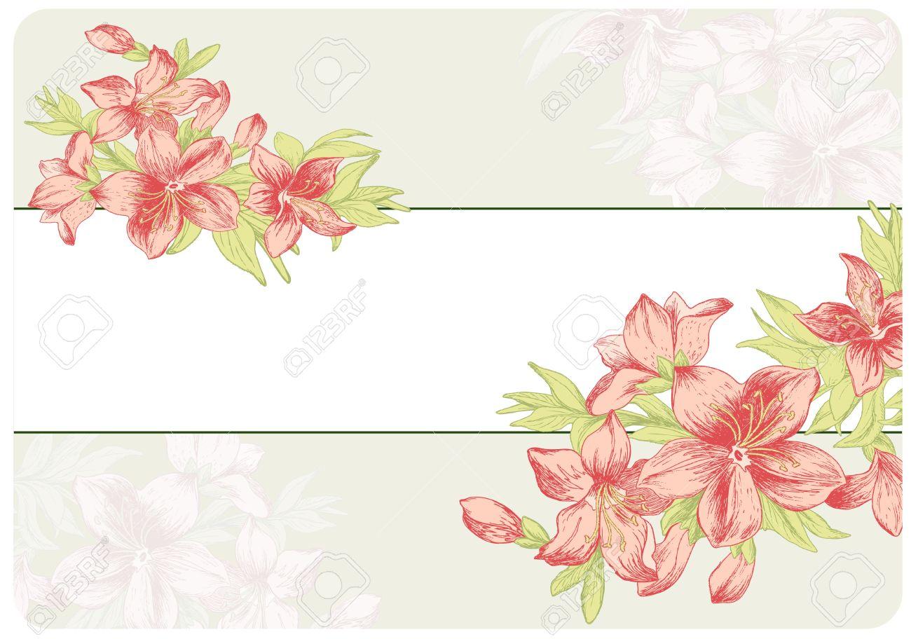 Adornos Florales De Estilo Barroco Dibujado A Mano Las Flores Del