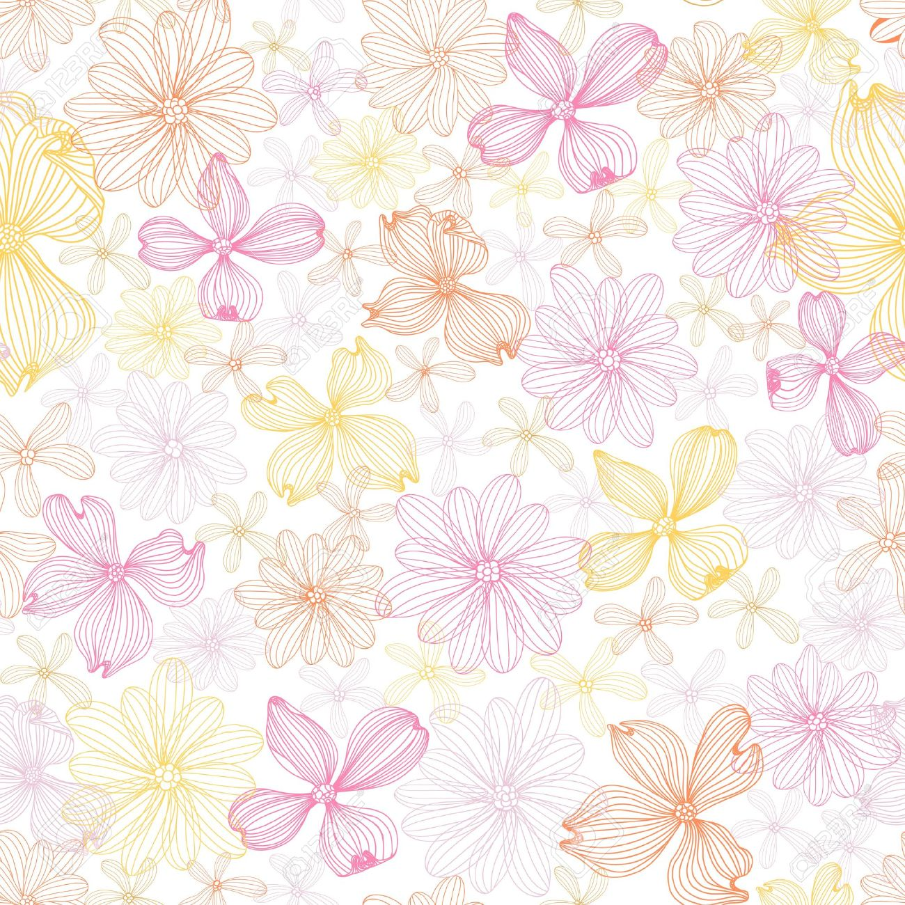 Pastel Floral Seamless Pattern Royalty Free Cliparts Vectors And