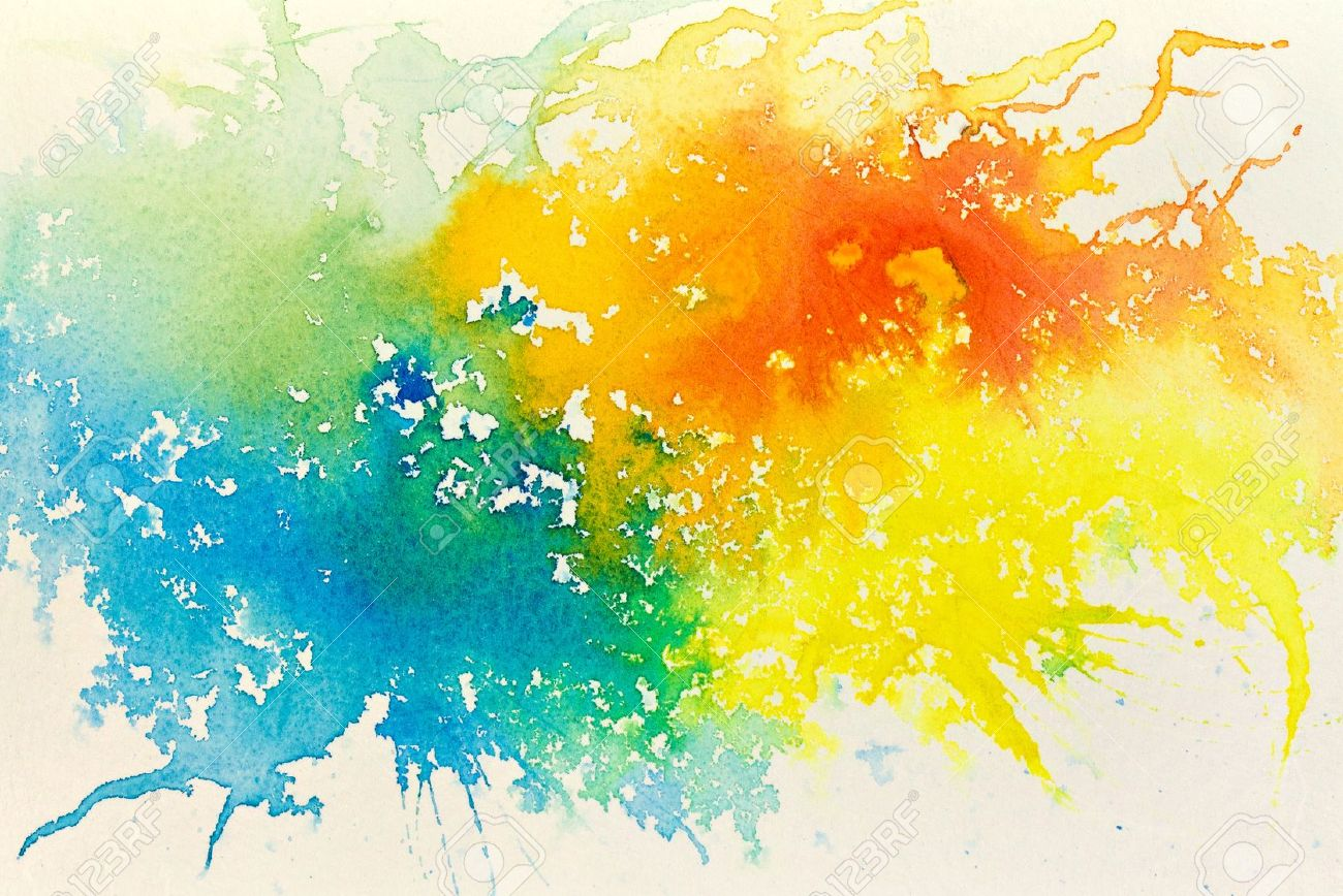 Abstract hand drawn watercolor background raster illustration stock illustration 13137985