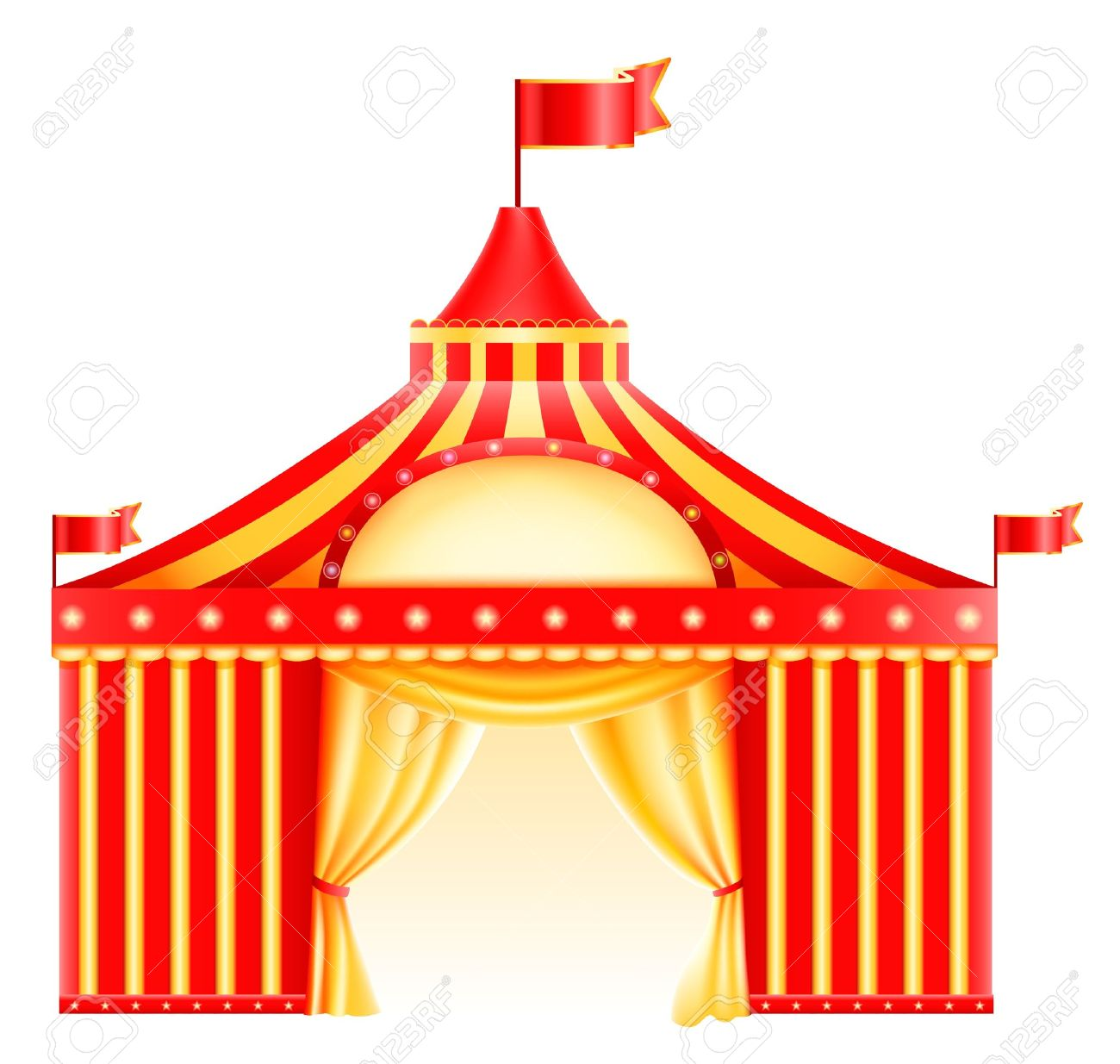 Big top circus tent isolated in white Icon Stock Vector - 14574426  sc 1 st  123RF.com & Big Top Circus Tent Isolated In White Icon Royalty Free Cliparts ...