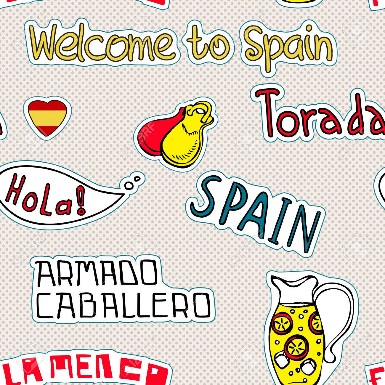 Travel spain pattern with doodles symbols of spain royalty free travel spain pattern with doodles symbols of spain stock vector 27532488 buycottarizona Images