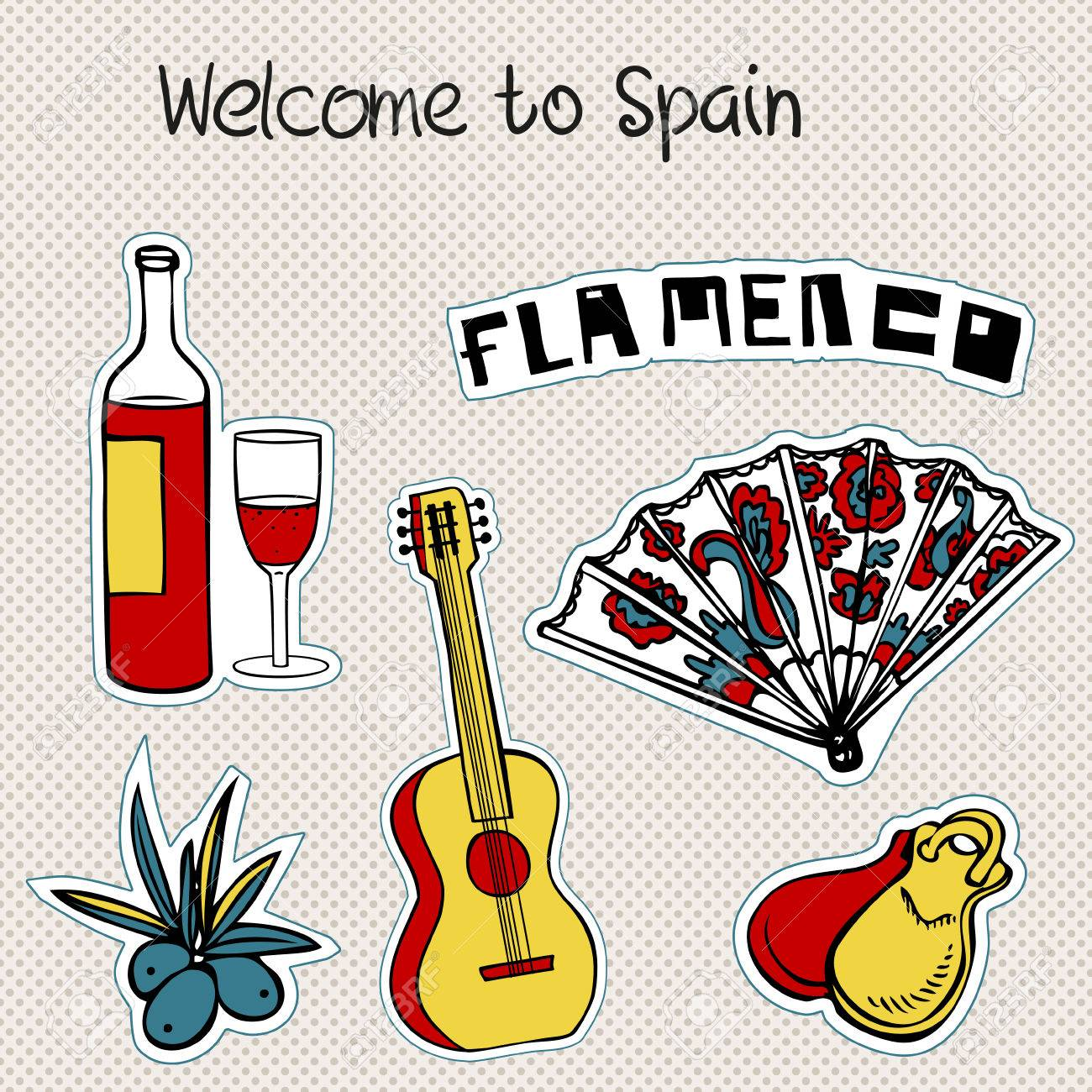 Travel spain doodles symbols of spain royalty free cliparts travel spain doodles symbols of spain stock vector 27532417 buycottarizona Images