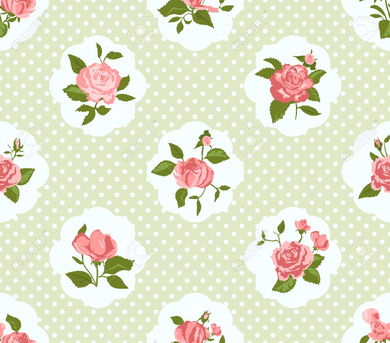 Peachy Shabby Chic Rose Pattern And Seamless Background Ideal For Printing Interior Design Ideas Lukepblogthenellocom