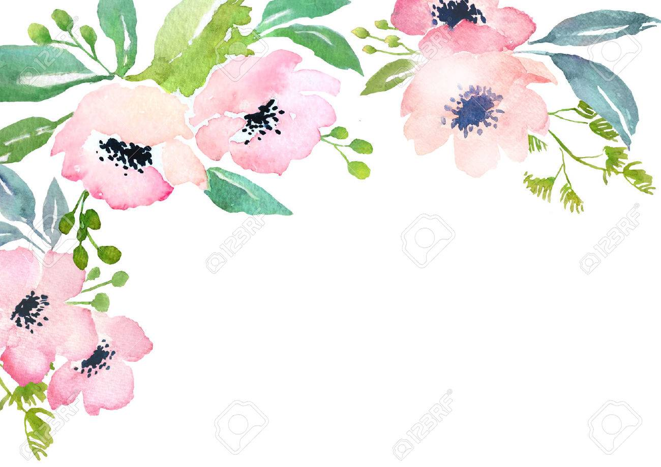 Card template with watercolor roses blank space for your text card template with watercolor roses blank space for your text illustration for greeting cards m4hsunfo
