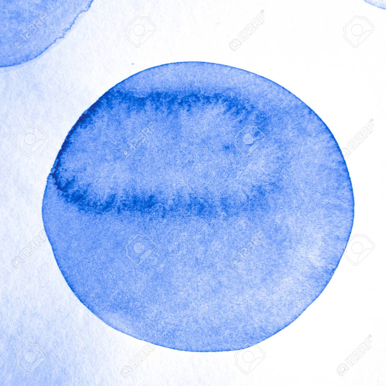 Indigo Circle Pattern. Round Background. Color Artistic Confetti. Grunge Snow Design. Circle Textile. White Cool Abstract Painting. Circle Texture. Blue Retro Snow Design. - 154760410