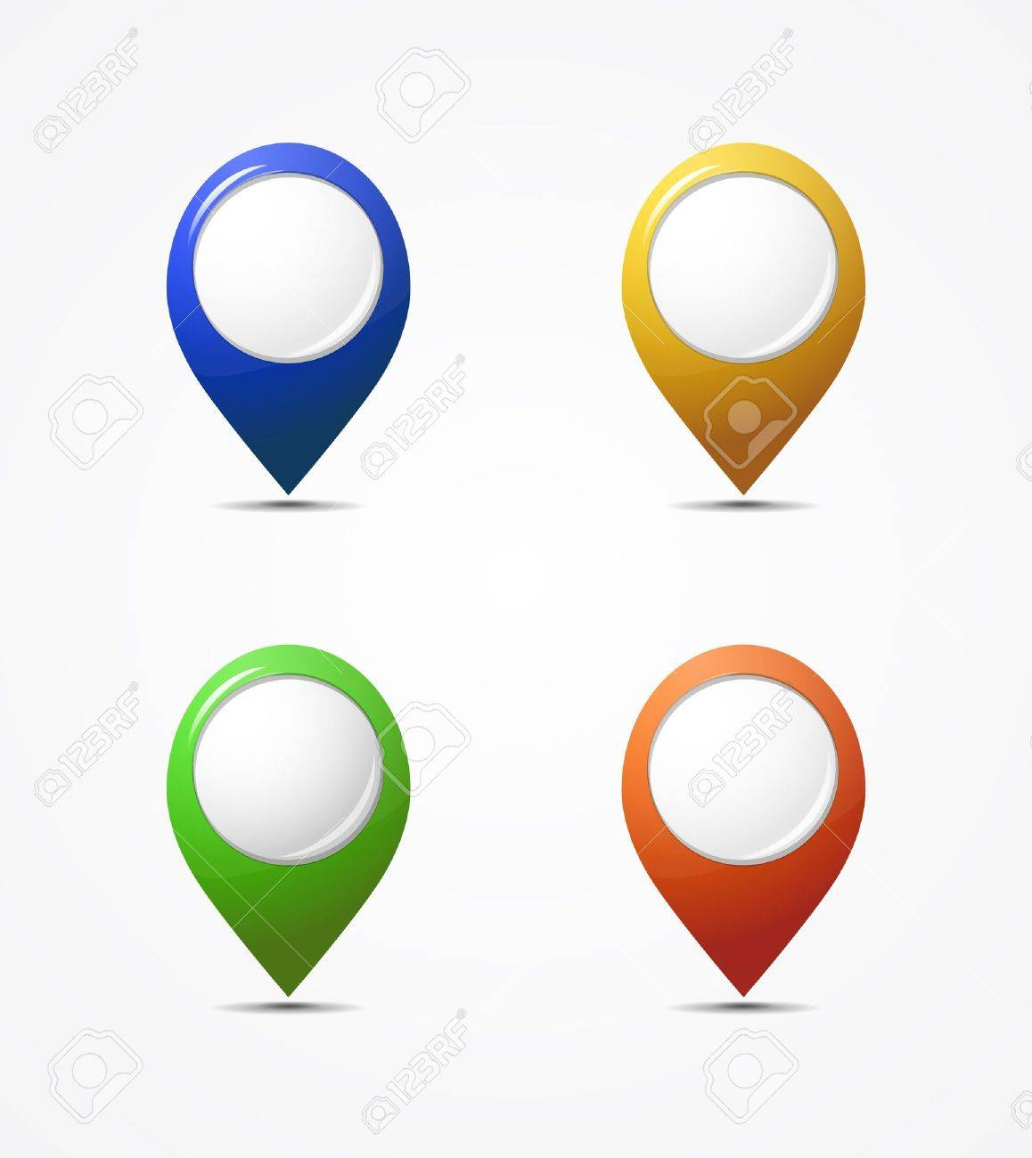 Vector map pointer icons Stock Vector - 13974970