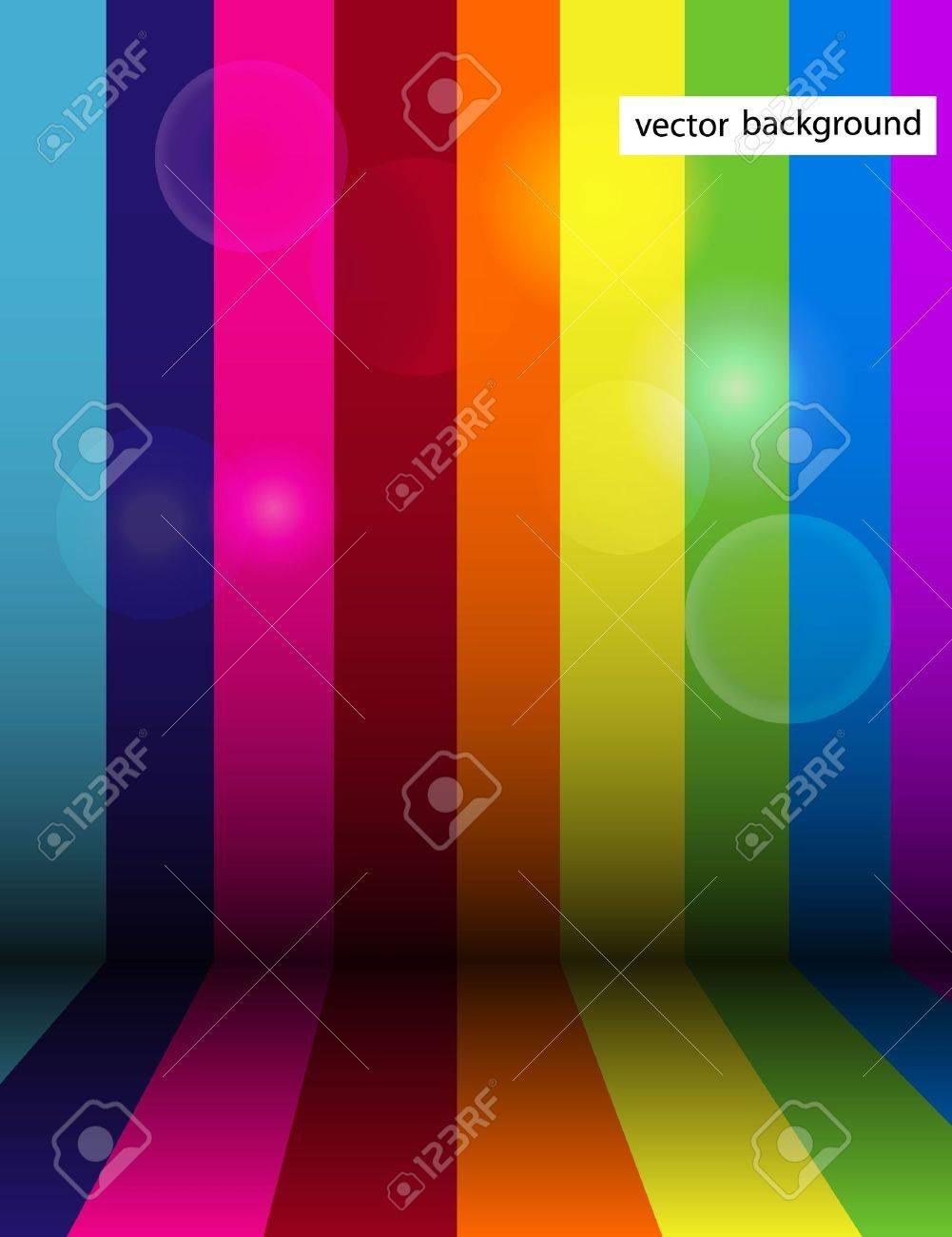 Vector shiny rainbow stripe background Stock Vector - 14930144