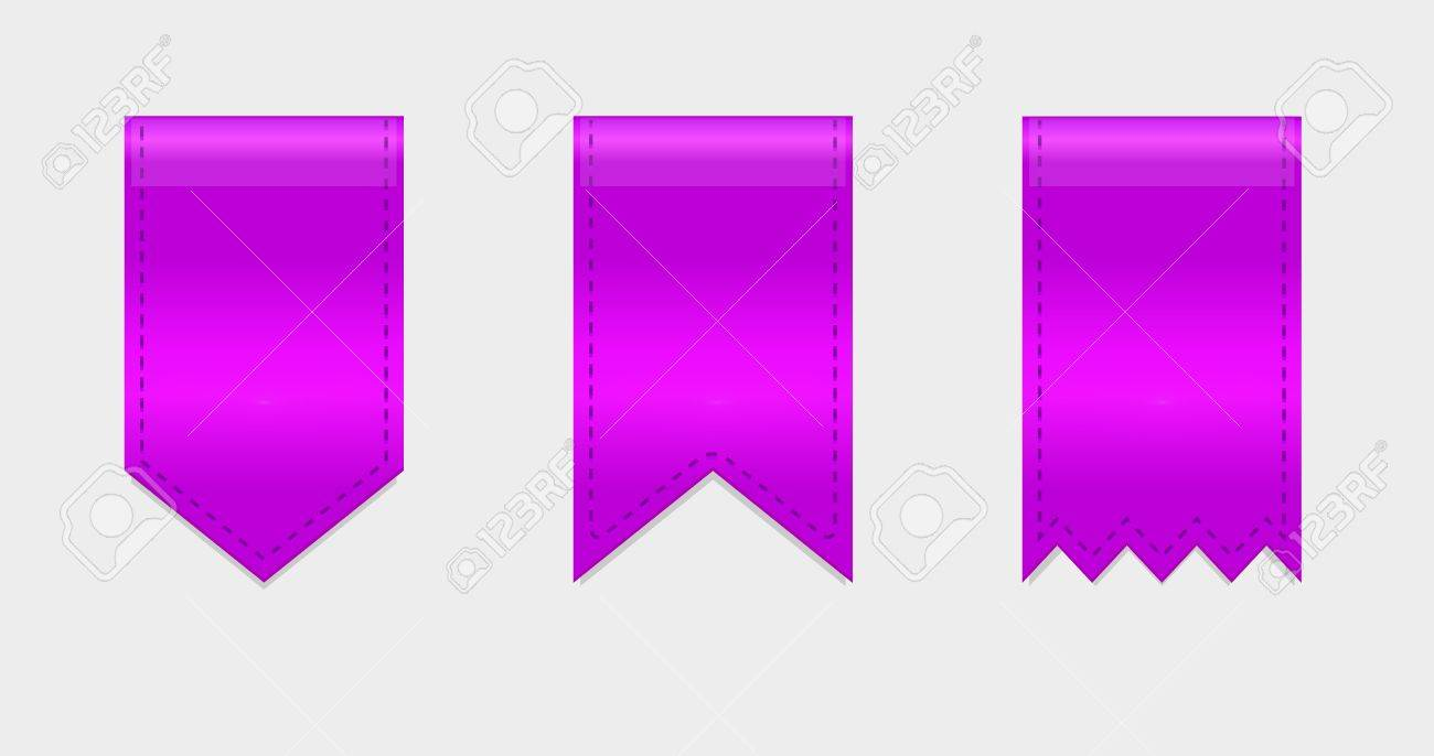 Glossy vector ribbons ends for decor Stock Vector - 15045854