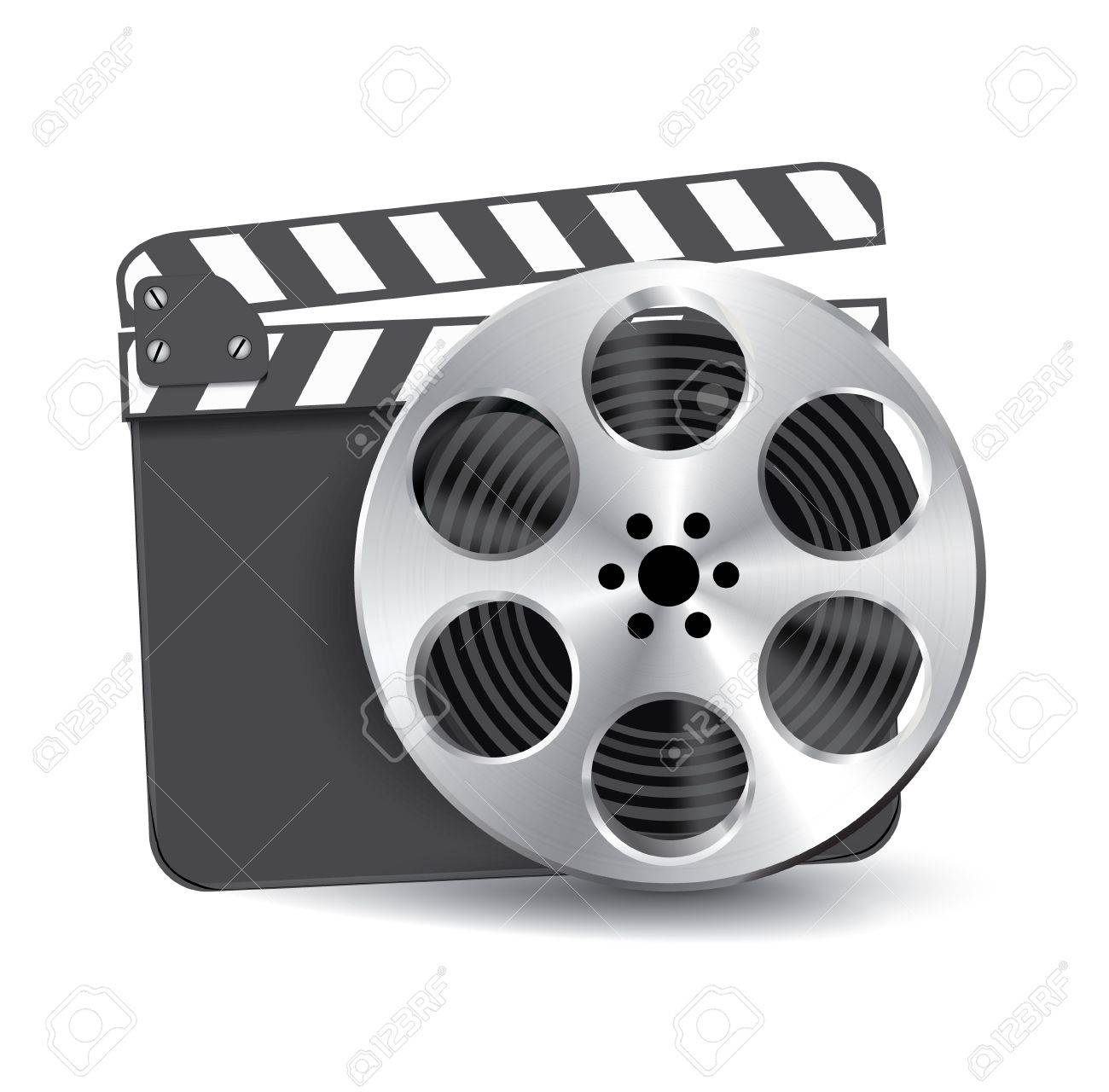 Vector  clapperboard with waving film Stock Vector - 15045884