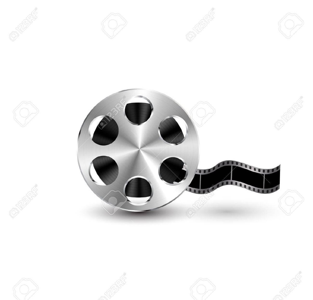 Vector metal textured film reel Stock Vector - 15045872