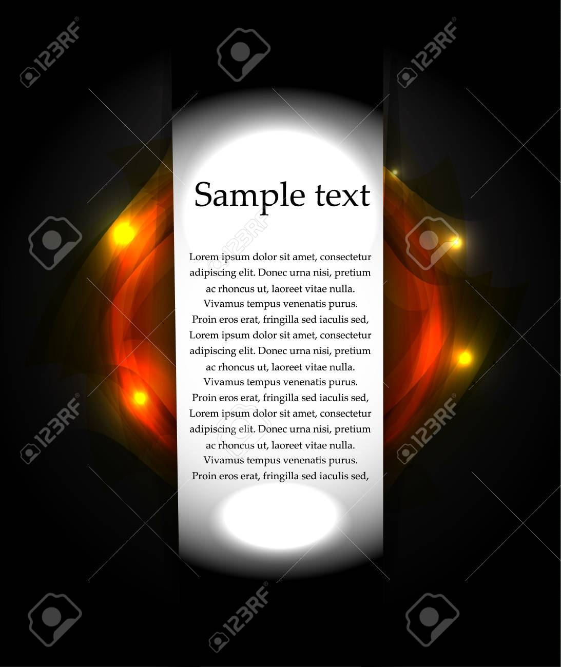 Vector black background with lights. Banner Stock Vector - 17826962