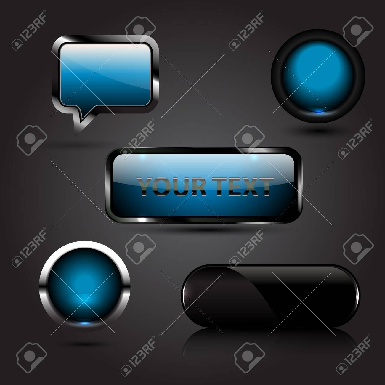 Shiny vector buttons Stock Vector - 17826963