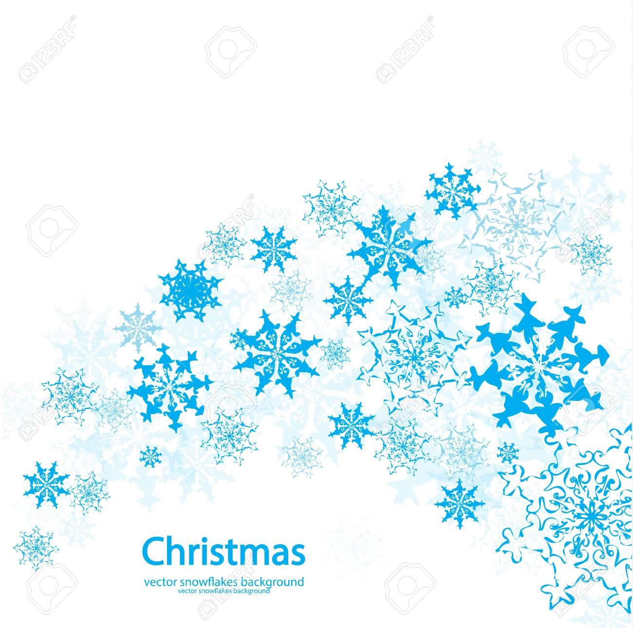 Christmas Snowflakes.Vector Christmas Snowflakes Background