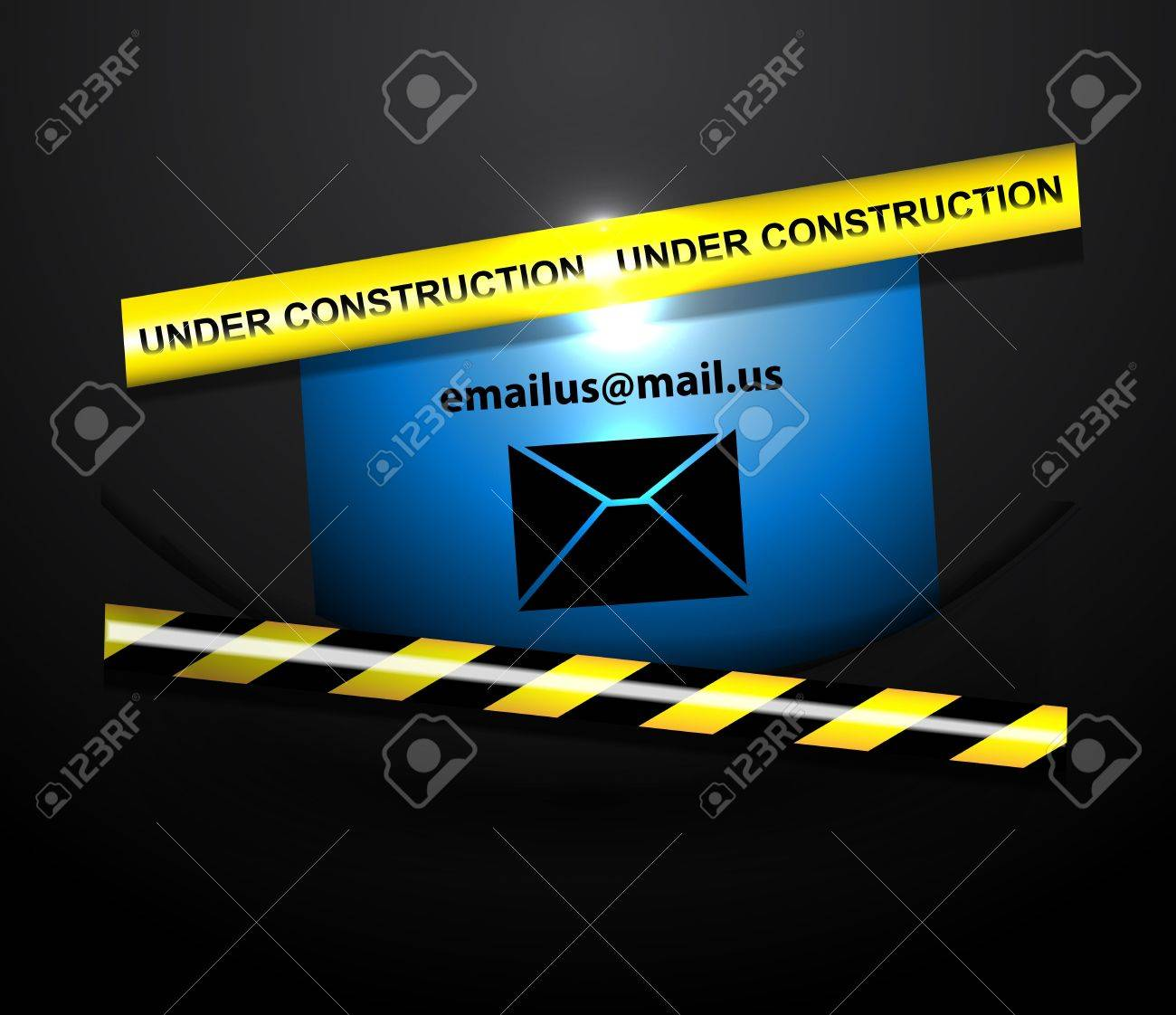Vector page under construction templates Stock Vector - 17827112