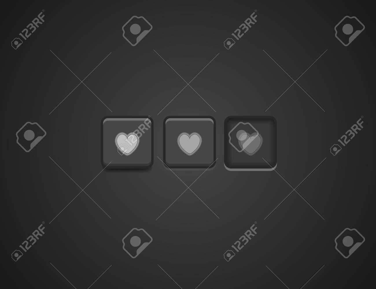 Vector like buttons Stock Vector - 17810758