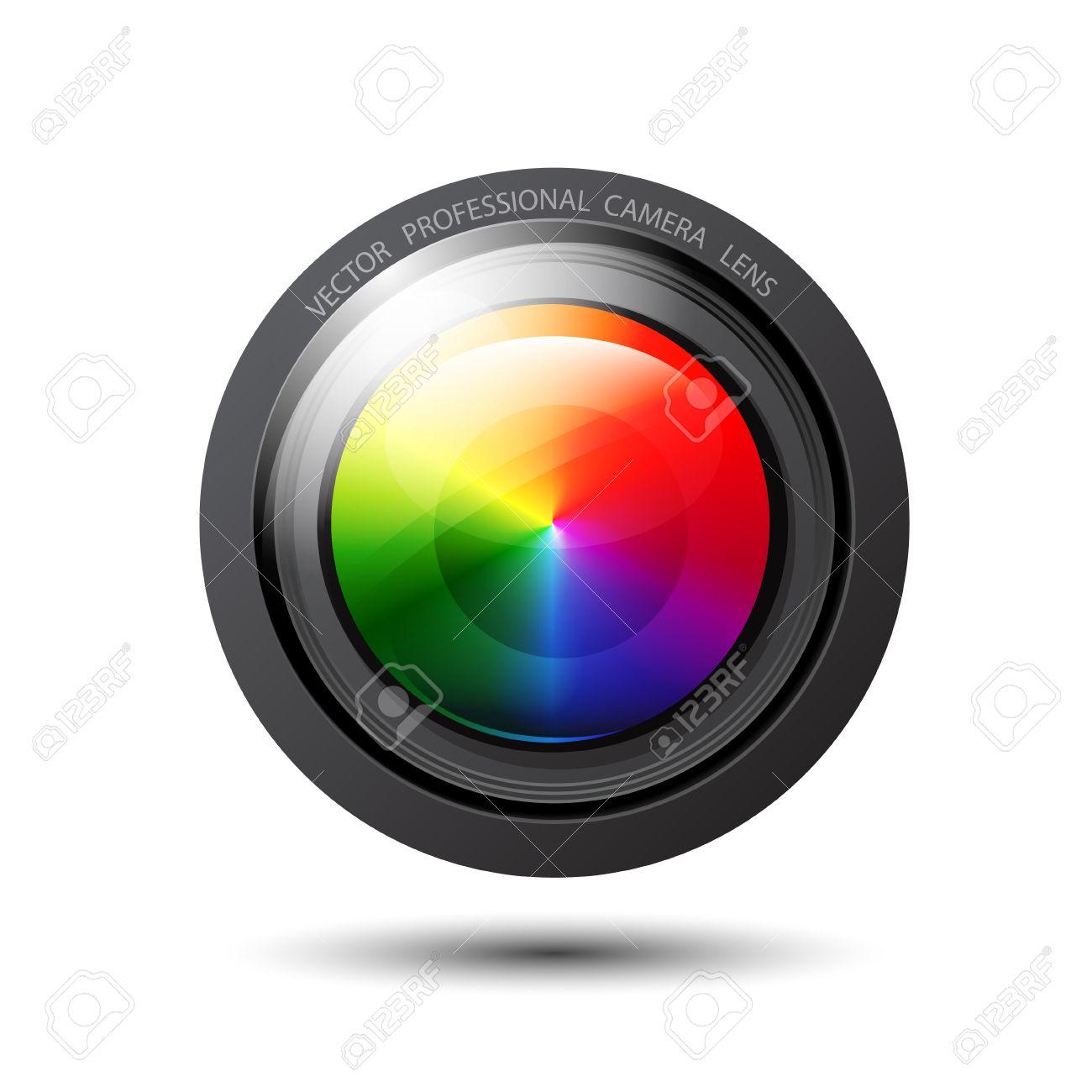 Vector rainbow camera lens Stock Vector - 17863450