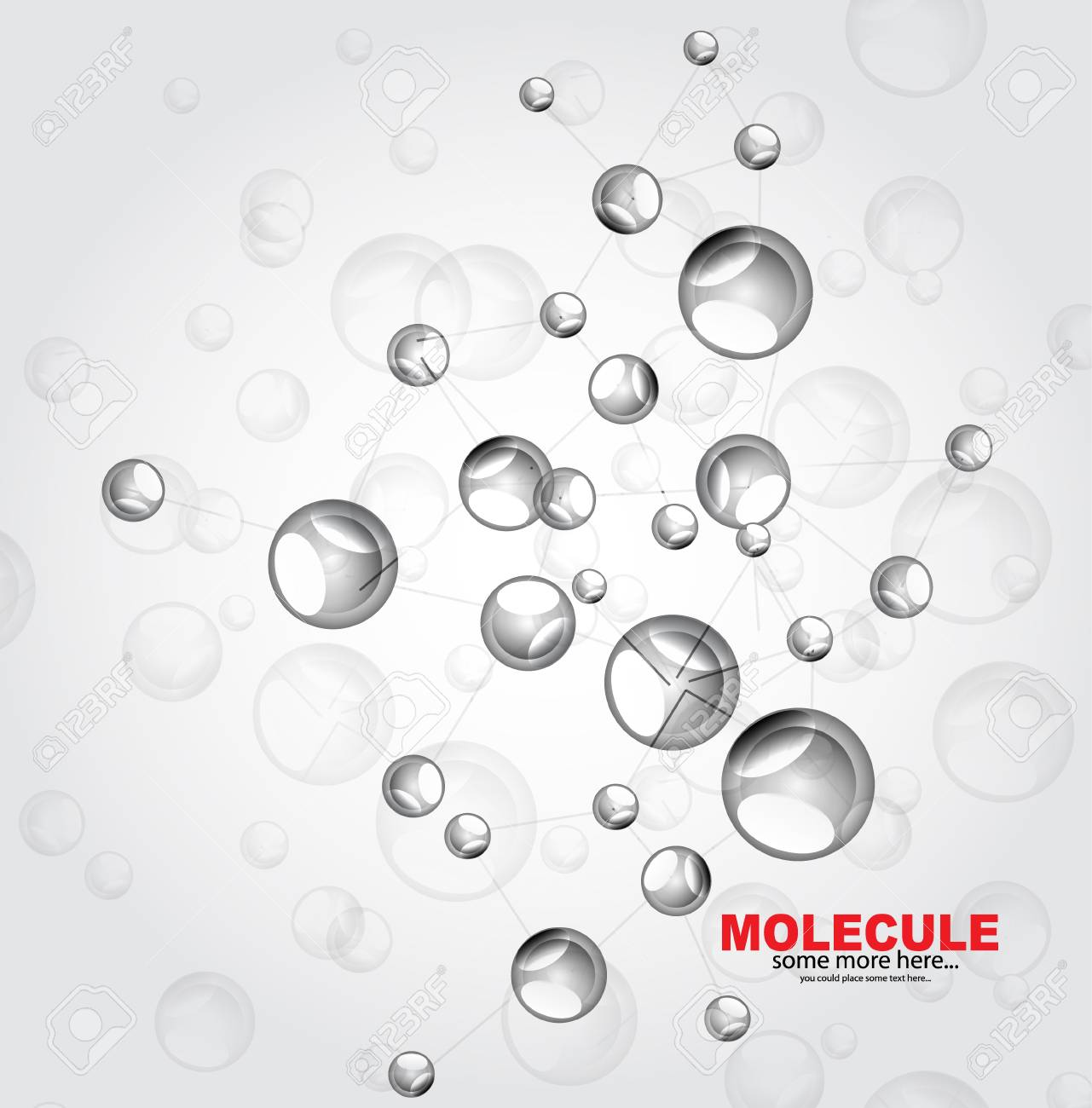 Glossy molecules background Stock Vector - 18053704