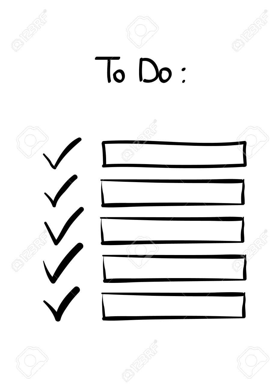 Hand Drawn Doodle To Do Checklist Tick No Signs Royalty Free