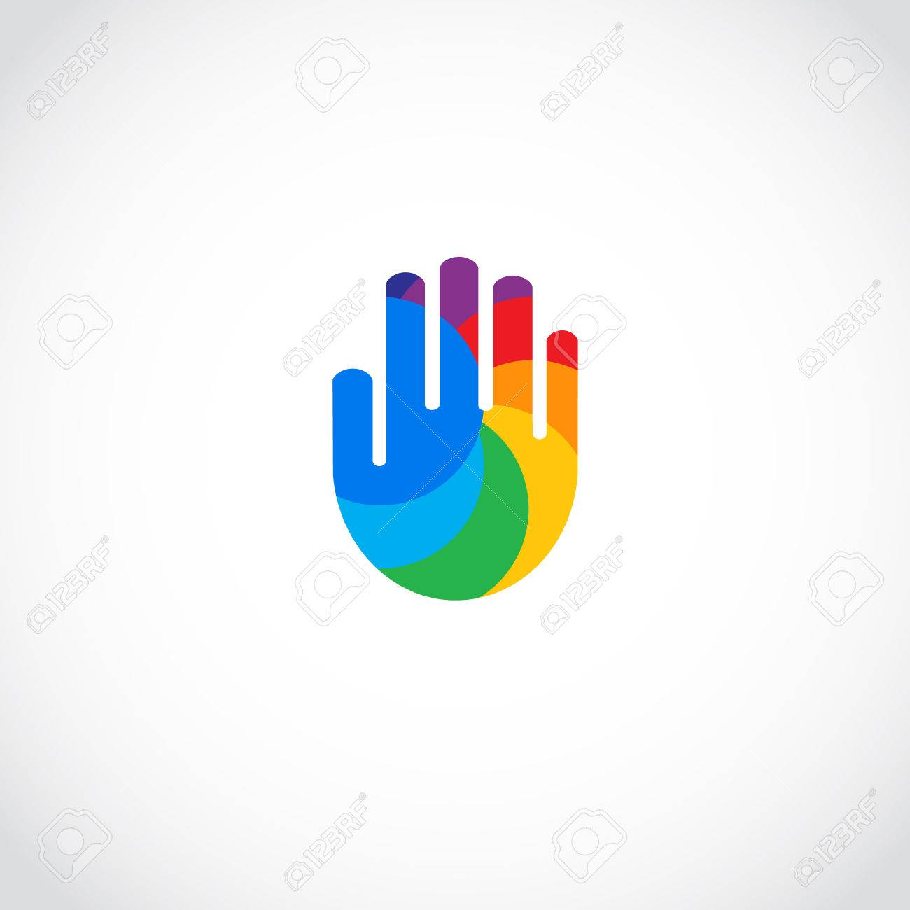 Riainbow Hand Icon Abstract Business Unity Symbol Royalty Free Cliparts Vectors And Stock Illustration Image 54334908
