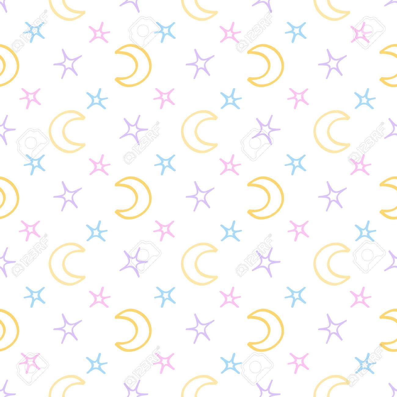 Estrellas Suaves Y Sin Costuras Fondo De La Noche De La Luna Del ...
