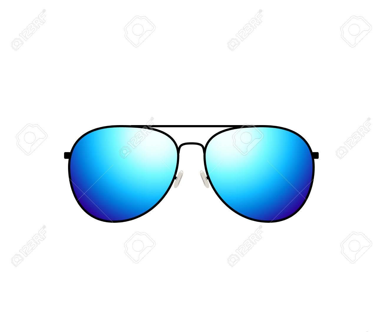 24690de5cf0 Glossy aviator sunglasses holiday summer vacation design Stock Vector -  68223275