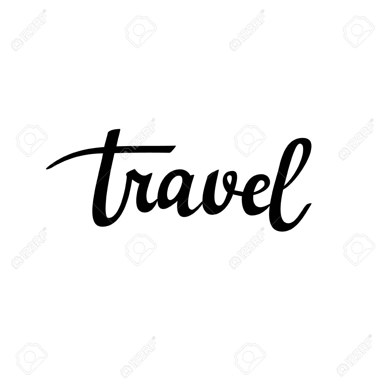Travel Vector Calligraphy Inspiration Lettering Word Design