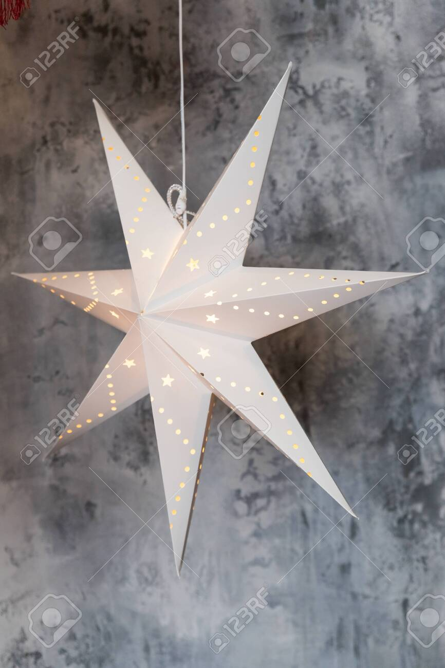 Hanging Star Lantern Lights During The Holiday Season Christmas Stock Photo Picture And Royalty Free Image Image 135355955