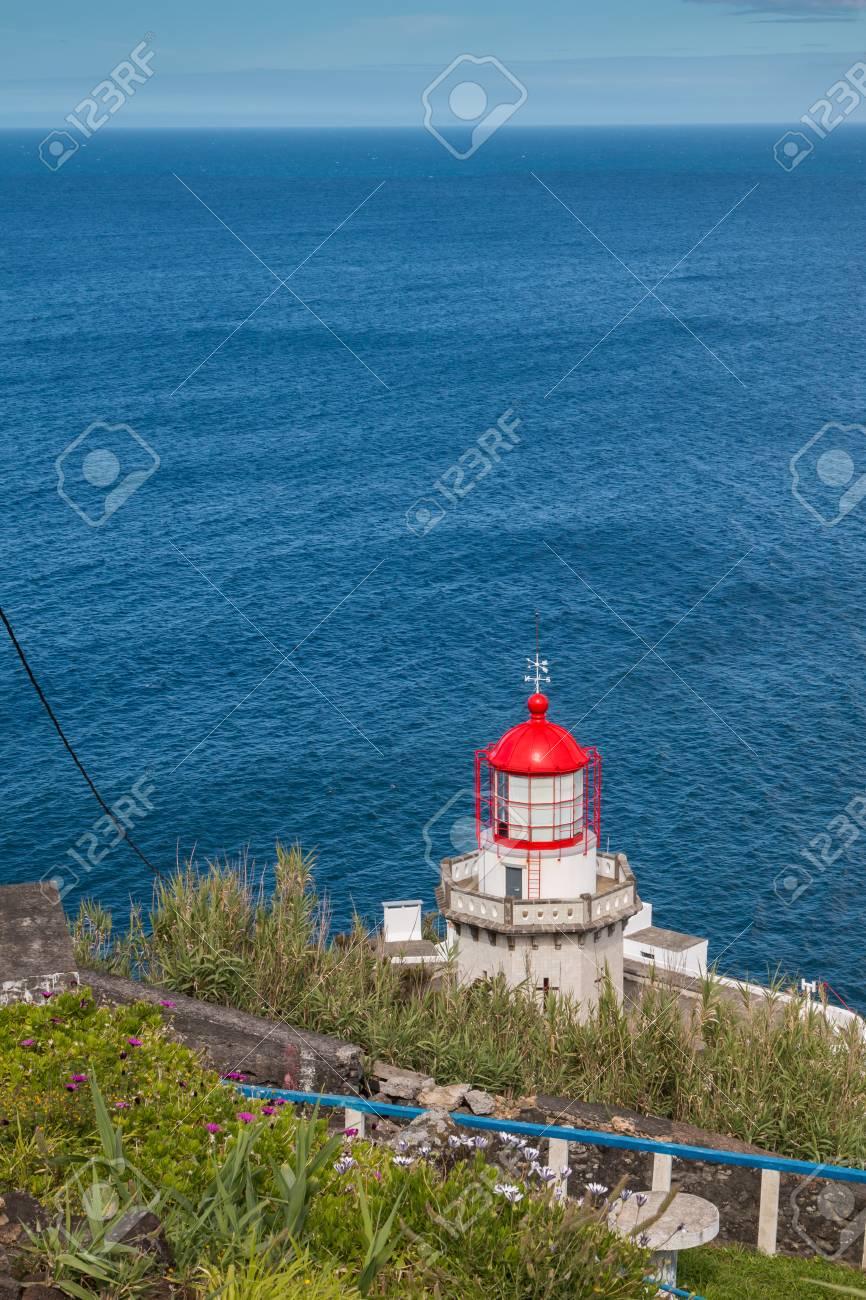 Lighthouse Arnel In Nordeste Sao Miguel Island Azores Islands