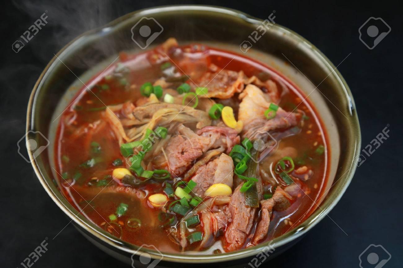 yukgaejang suppe / koreanische küche lizenzfreie fotos, bilder und