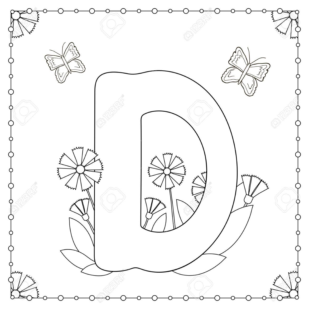 Malvorlagen Zum Thema Alphabet. Großbuchstabe \