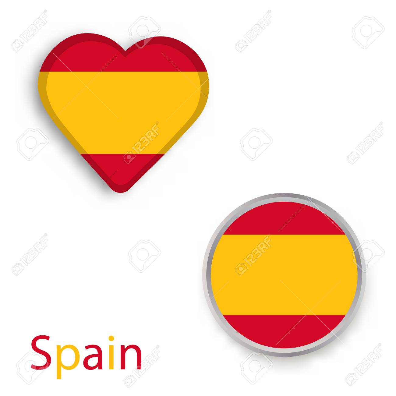 Heart and circle symbols with flag of spain vector illustration heart and circle symbols with flag of spain vector illustration stock vector 92438915 buycottarizona Images