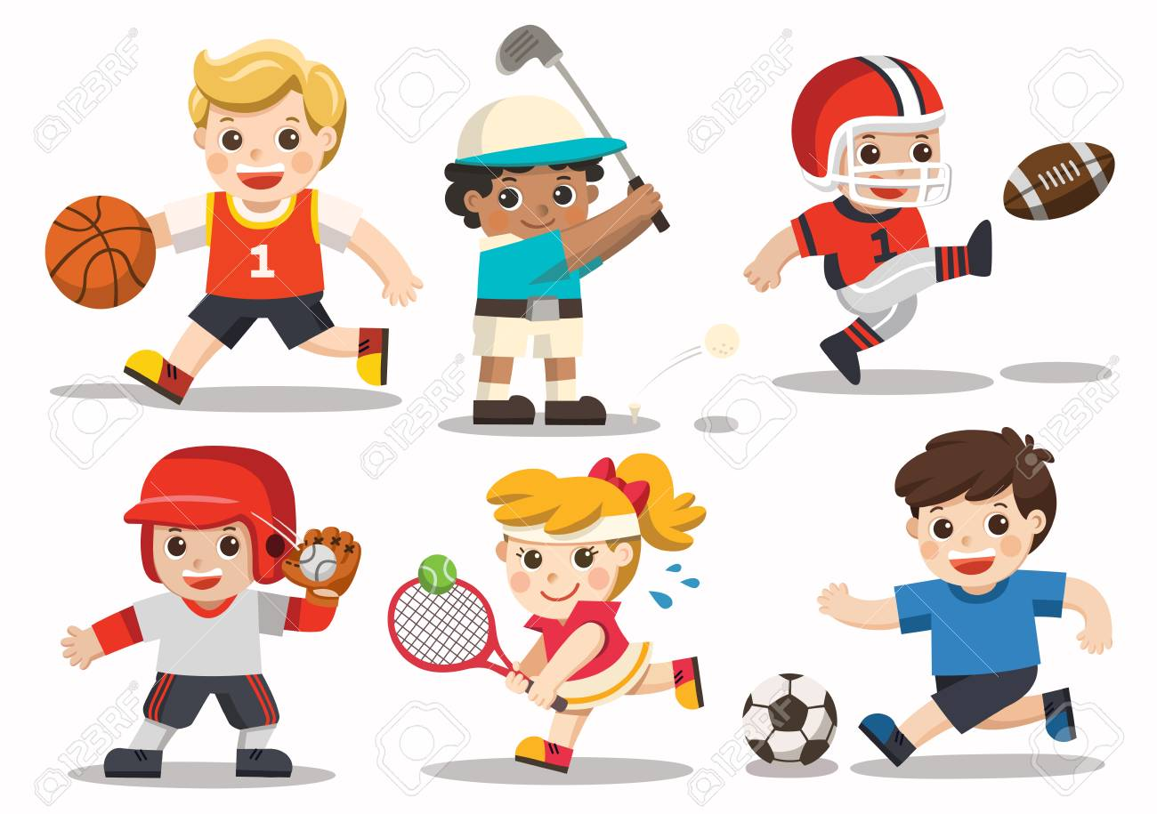 Team Sports For Kids Including Football Basketball American