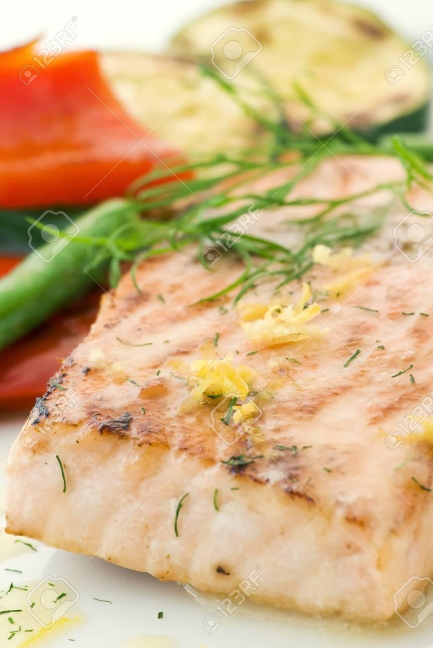 Salmon with vegetable Stock Photo - 9034856