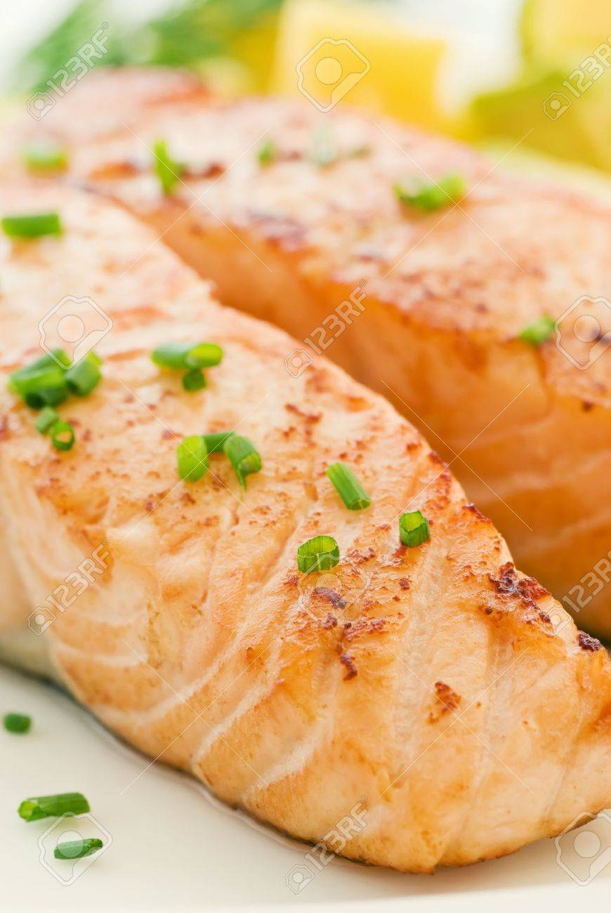 Salmon with Fruits Stock Photo - 9031147