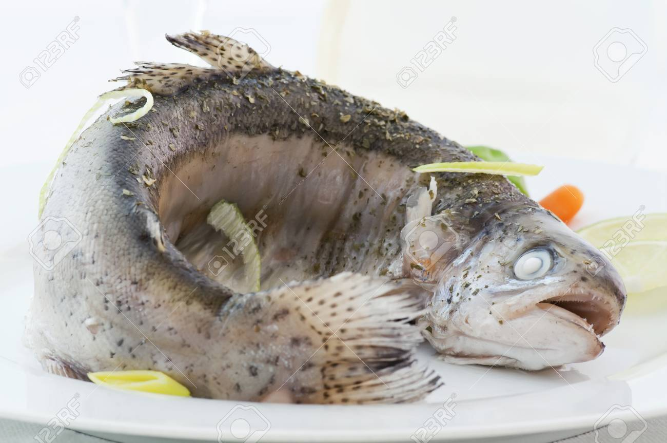 Steamed Rainbow Trout Stock Photo - 9539689