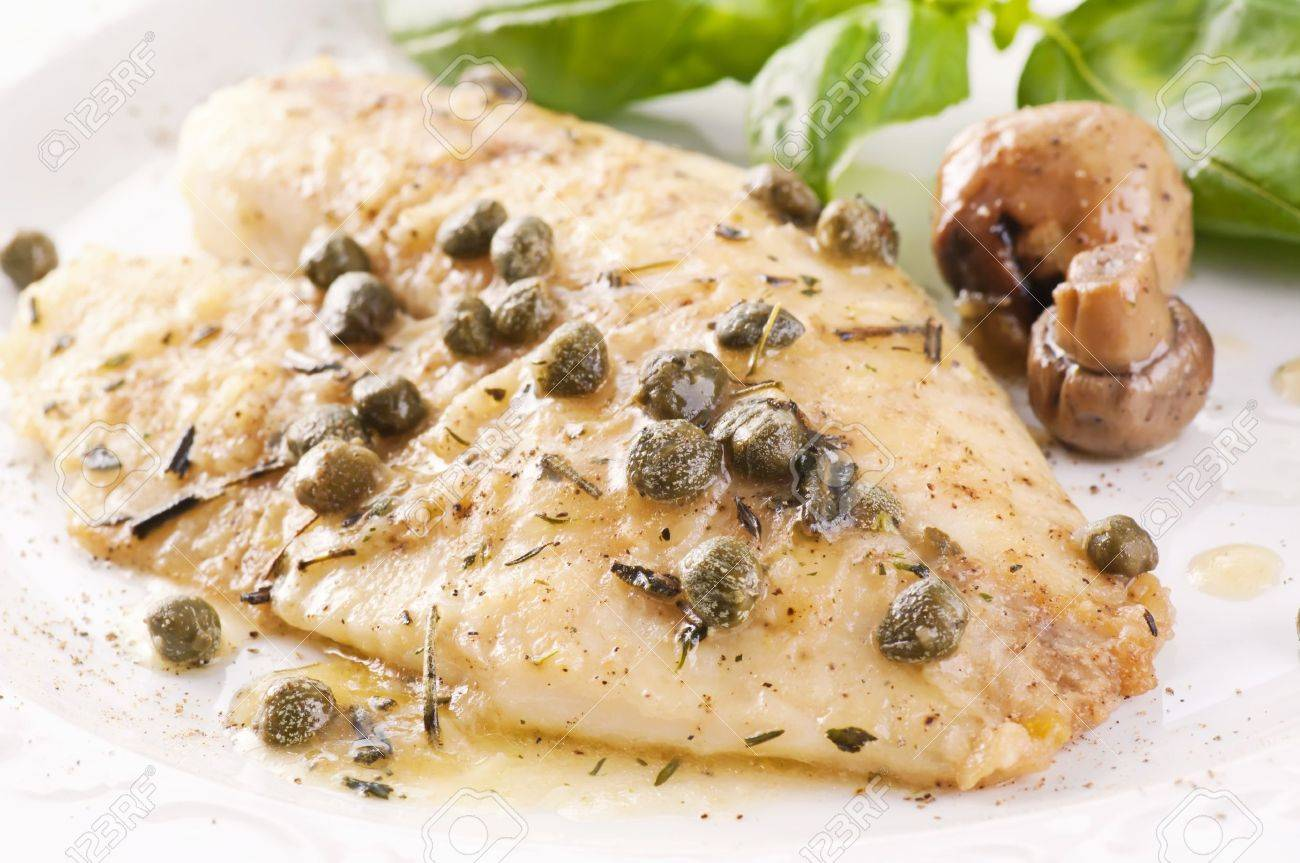Fish piccata with capers Stock Photo - 11304584