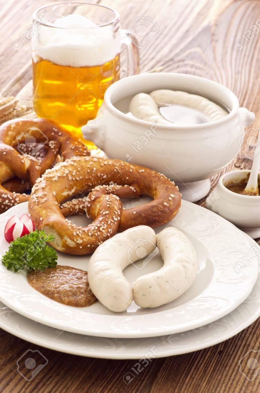 bavarian white sausage breakfast Stock Photo - 14868017