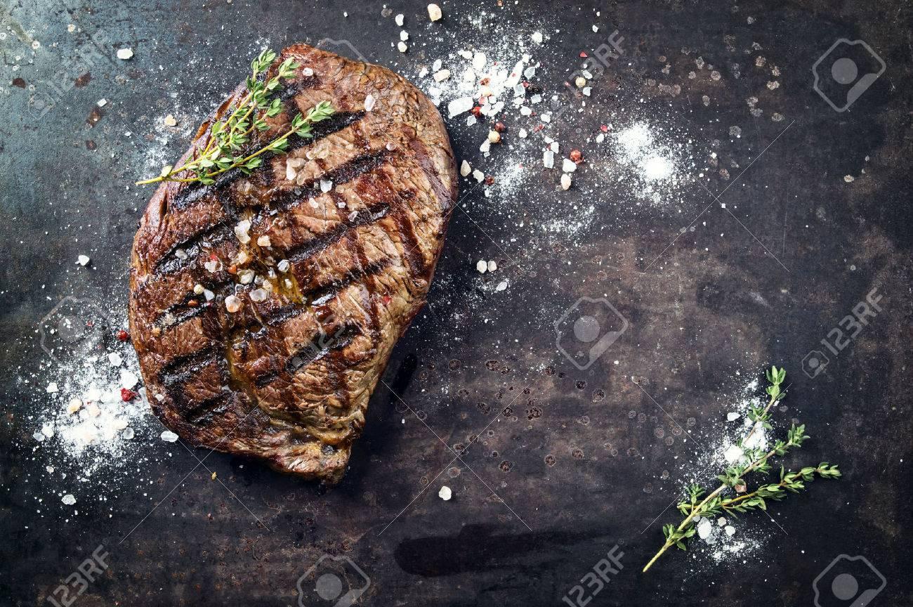 Barbecue Dry Aged Rib Eye Steak - 55238491