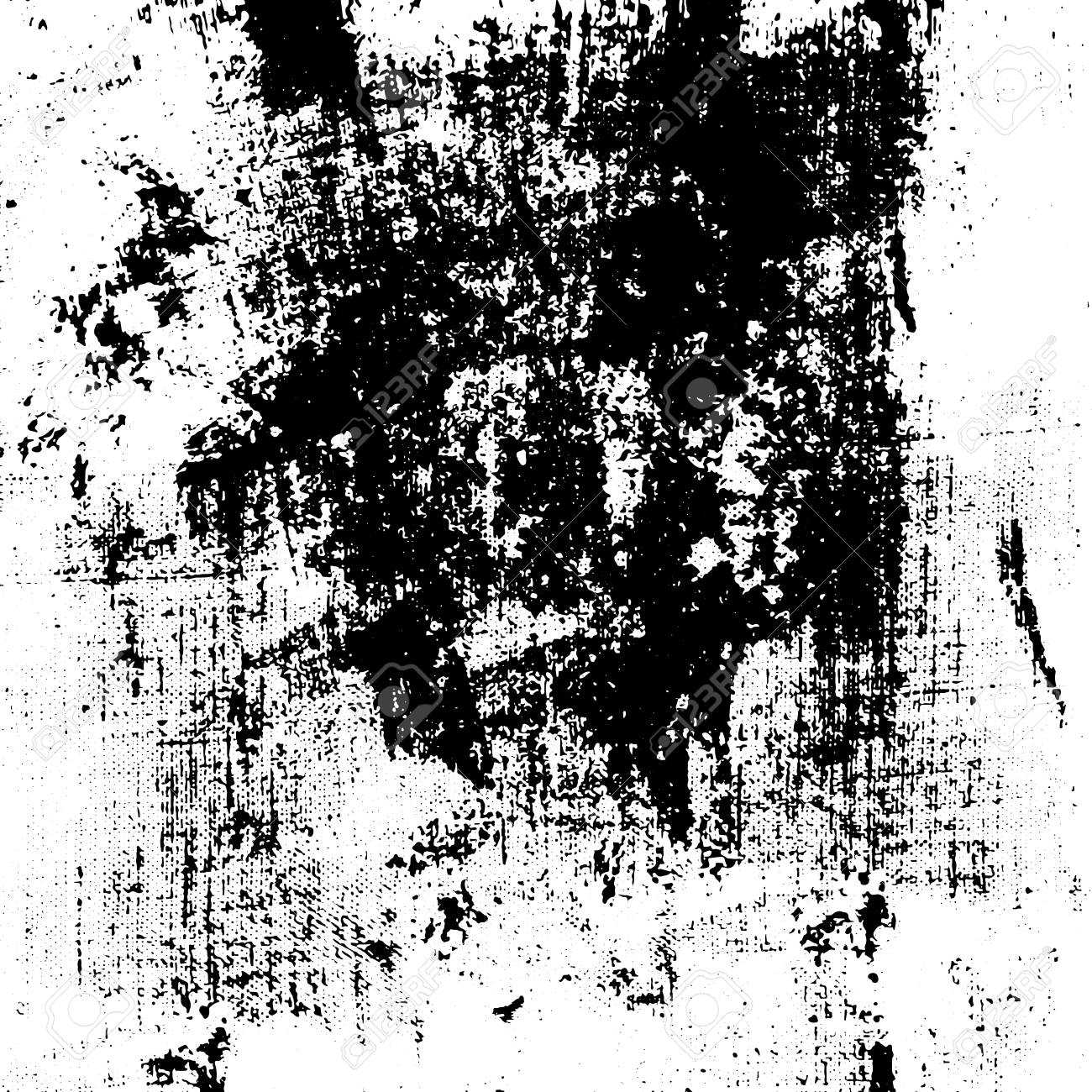 Grunge Texture Black And White Ink On Paper Hand Brush Vintage Urban Abstract Print