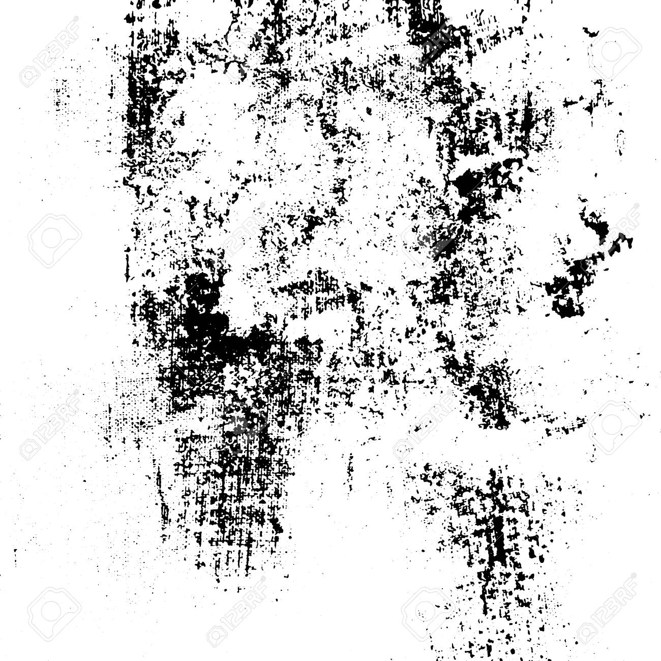 Grunge Urban Ink Texture Black And White On Paper Hand Brushed Abstract Vintage Print