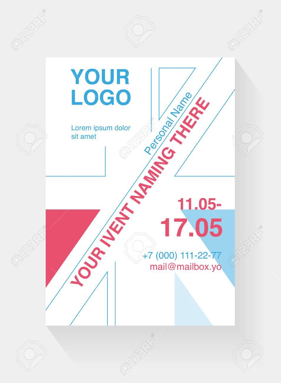 A5 Flyer Template Based On British Flag Design Leaflet Cover Invite