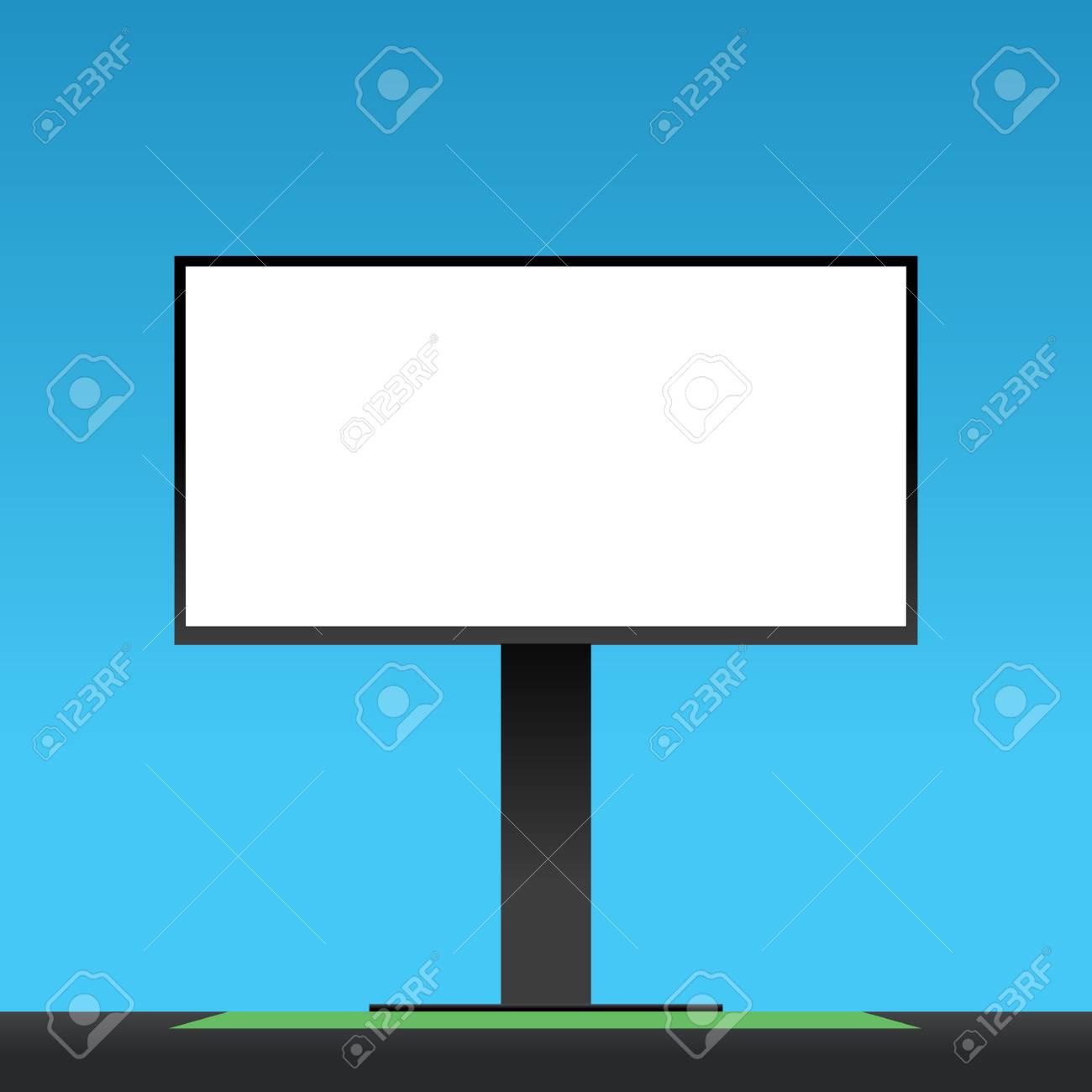Blank Billboard Template Vector Illustration Advertising Lockup