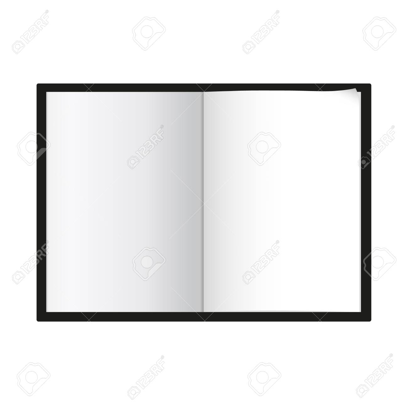 notepad template isolated vector illustration royalty free cliparts