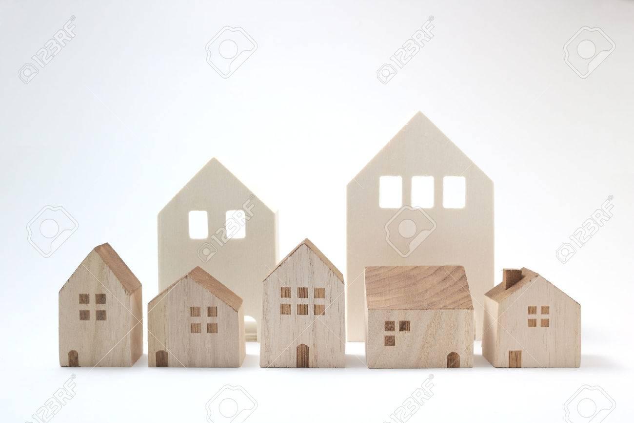 Remarkable Miniature Houses On White Background Building Blocks Arranged Download Free Architecture Designs Scobabritishbridgeorg