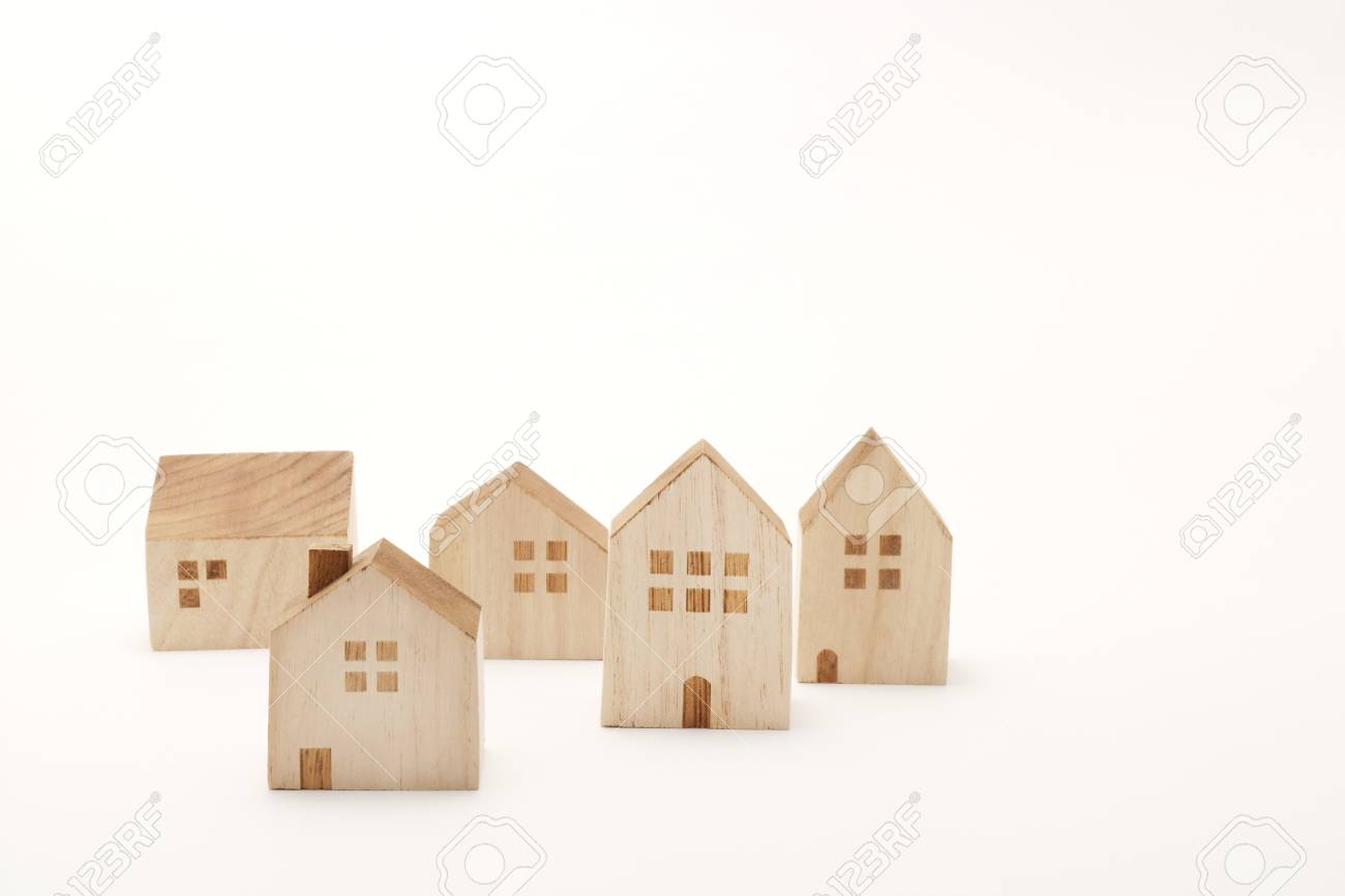 Incredible Miniature Houses On White Background Building Blocks Arranged Download Free Architecture Designs Scobabritishbridgeorg
