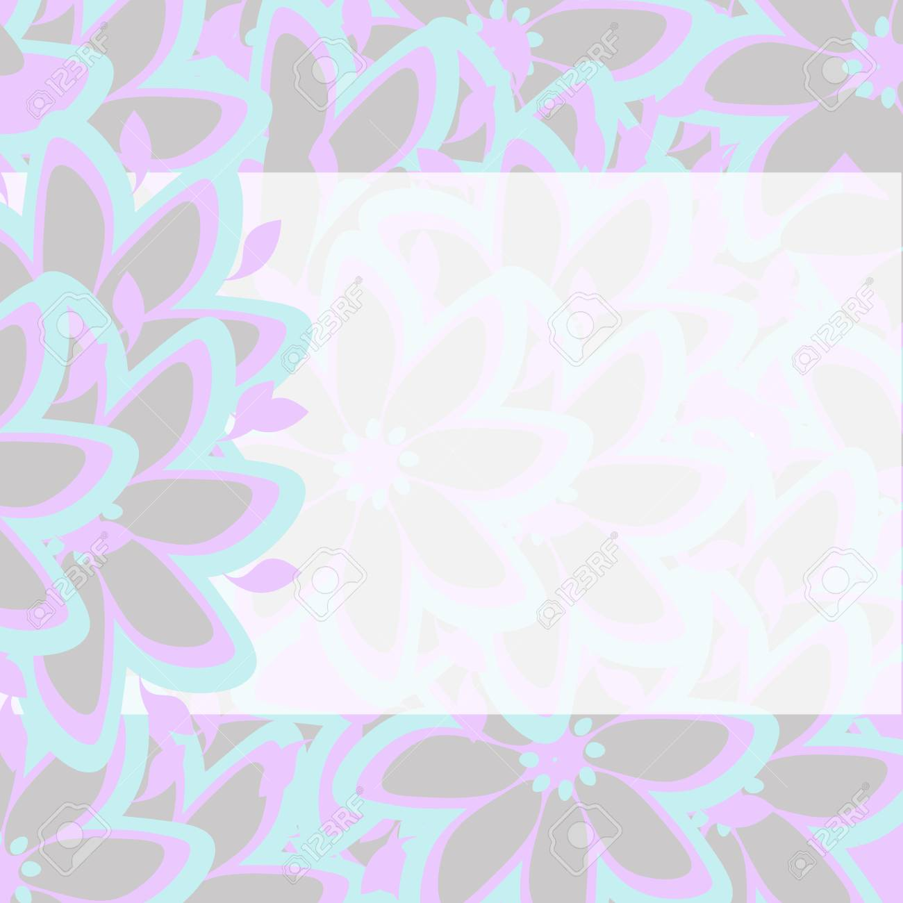 Background Template Wedding Birthday Invitation Abstract Floral