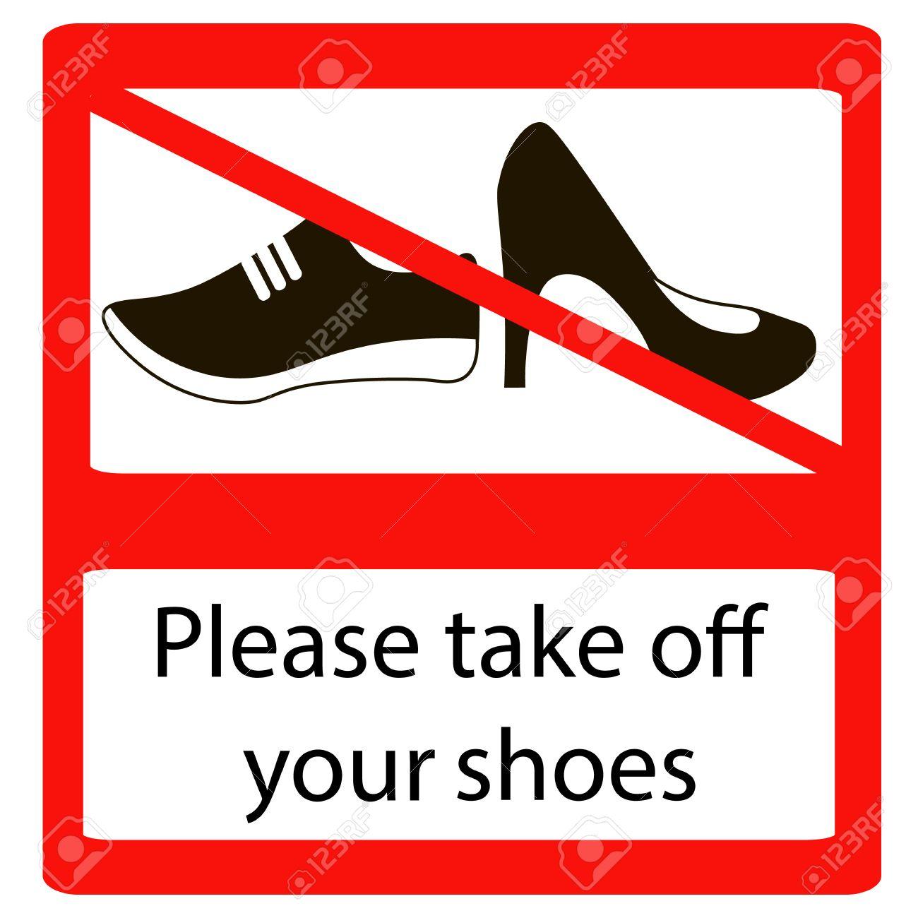 Bitte Schuhe Ausziehen bitte schuhe ausziehen zeichen keine schuhe warnzeichen verbotene