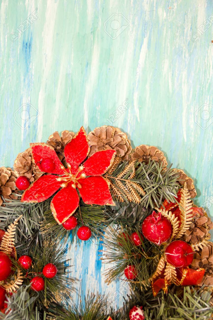Christmas border from christmas wreath useful as christmas christmas border from christmas wreath useful as christmas decoration christmas greeting card vintage style kristyandbryce Choice Image